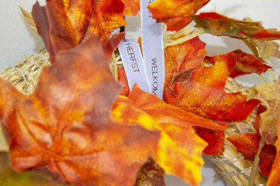 Herbstkranz decorieren