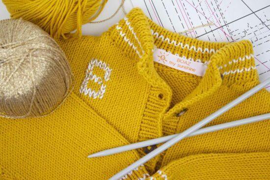 handknitted summervest for a little child