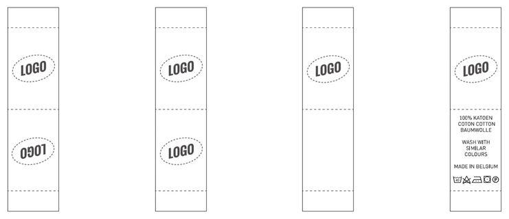 Etikett mit Logo Nominette